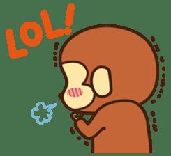 Lazy Monchey (ENG) sticker #86713