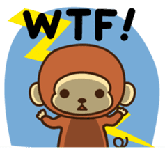 Lazy Monchey (ENG) sticker #86715