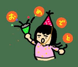 Mu-san&Hanadekakun sticker #88484
