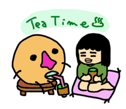 Mu-san&Hanadekakun sticker #88486