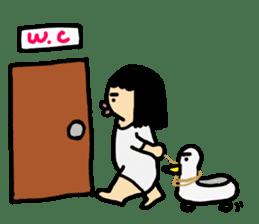 Mu-san&Hanadekakun sticker #88500