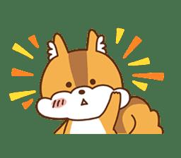 I am squirrel, 3 years old. sticker #88756