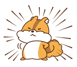 I am squirrel, 3 years old. sticker #88768