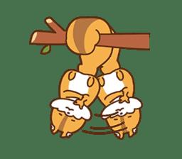 I am squirrel, 3 years old. sticker #88774