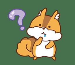 I am squirrel, 3 years old. sticker #88779