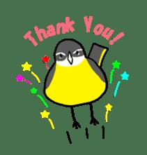 Kawaii Japanese Birds sticker #89810
