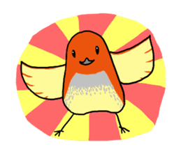 Kawaii Japanese Birds sticker #89815