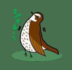 Kawaii Japanese Birds sticker #89823
