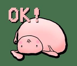 Kagamimochi rabbit sticker #90562