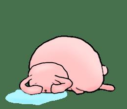 Kagamimochi rabbit sticker #90563