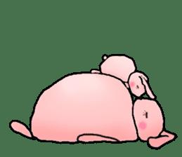 Kagamimochi rabbit sticker #90575