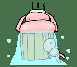 Kagamimochi rabbit sticker #90586