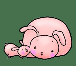 Kagamimochi rabbit sticker #90595