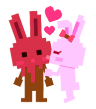 Chocolate Bunny Pulpy sticker #91400