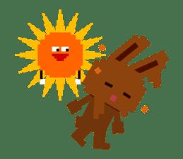 Chocolate Bunny Pulpy sticker #91405