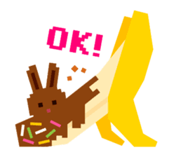 Chocolate Bunny Pulpy sticker #91417