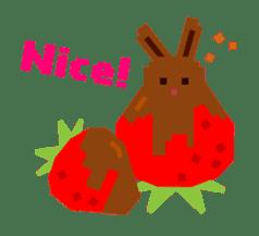 Chocolate Bunny Pulpy sticker #91420