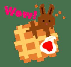 Chocolate Bunny Pulpy sticker #91423