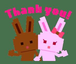 Chocolate Bunny Pulpy sticker #91434
