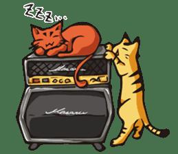 Cat Music Band Stamp sticker #91758