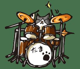 Cat Music Band Stamp sticker #91759