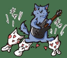 Cat Music Band Stamp sticker #91761