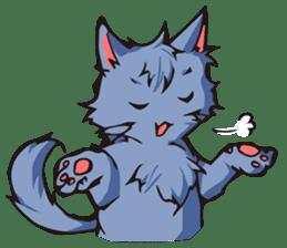 Cat Music Band Stamp sticker #91770