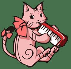 Cat Music Band Stamp sticker #91774
