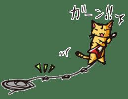 Cat Music Band Stamp sticker #91777