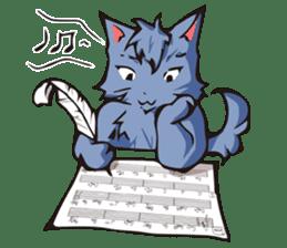 Cat Music Band Stamp sticker #91778