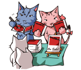Cat Music Band Stamp sticker #91779