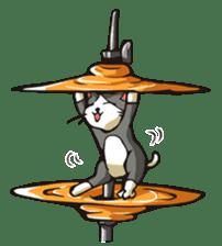 Cat Music Band Stamp sticker #91783
