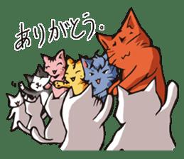 Cat Music Band Stamp sticker #91794