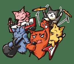 Cat Music Band Stamp sticker #91795
