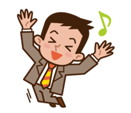 Fight! Businessman Anko. sticker #92079