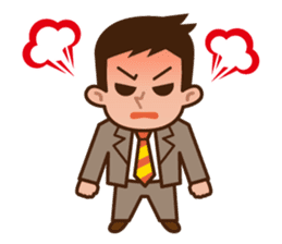 Fight! Businessman Anko. sticker #92100