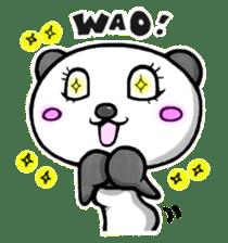 SHAREPAN of stylish panda sticker #92517