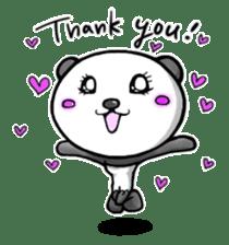 SHAREPAN of stylish panda sticker #92555