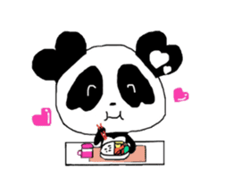 Heart of Love Panda sticker #92813