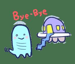 Hello Alien U sticker #93124