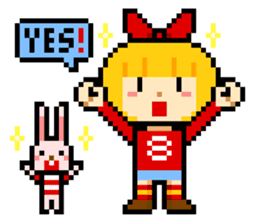 pixel boy & girl sticker #93174