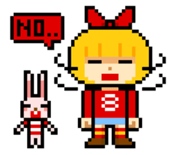 pixel boy & girl sticker #93175