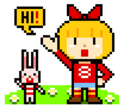 pixel boy & girl sticker #93180