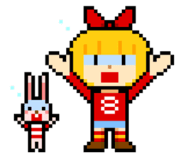 pixel boy & girl sticker #93183