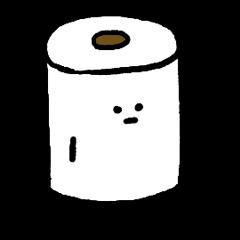 Toilet paper stamp
