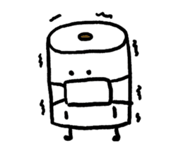 Toilet paper stamp sticker #94158
