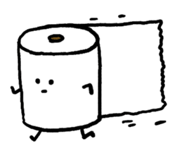 Toilet paper stamp sticker #94159