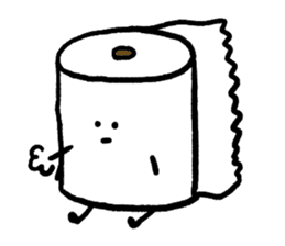 Toilet paper stamp sticker #94160