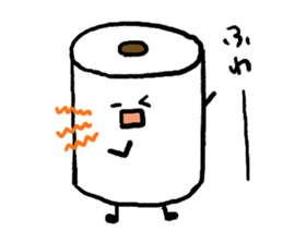 Toilet paper stamp sticker #94189