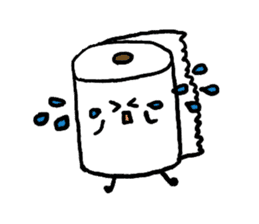 Toilet paper stamp sticker #94195